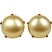 Victorian 10k Gold Filigree Settings Faux Pearls Earrings