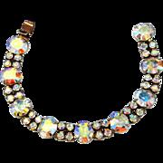Signed Weiss Aurora Borealis Bracelet