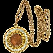 Confirmed Juliana Rhinestone Penny Necklace Book Piece