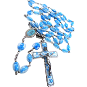 1920's Rosary with Embedded Statues in Lucite Beads