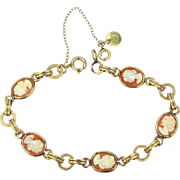 Curtis Jewelry Co. Carved Shell Cameo Bracelet
