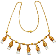 1930's AMCO Gold Filled Art Deco Necklace
