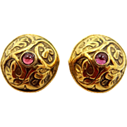MMA Metropolitan Museum of Art Ancient Replica Garnet Earrings