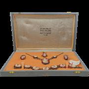 Rare 800 Silver Italy Cameo Parure A. Colamonici Mint in Box
