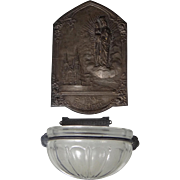 Vintage Onyx St. Anne DeBeaupre Holy Water Font