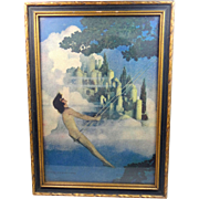 1904 Dinky Bird Maxfield Parrish Print Original Frame Scribner's / Gross