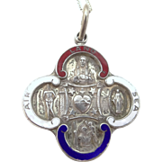 1940's Sterling Air, Land & Sea Religious Medal