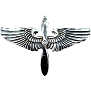 WWII Sterling Silver Army Air Force Insignia Pin