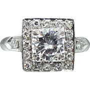 Platinum & 1.23tcw Diamond Ring with Appraisal