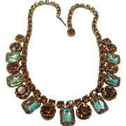 Vintage Saphiret Necklace Fiery Color