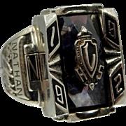 10k White Gold Man's School Ring 14 Grams!