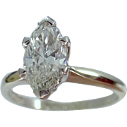 14k White Gold 1.10 Carat Solitaire Diamond Ring With Certified GIA Appraisal