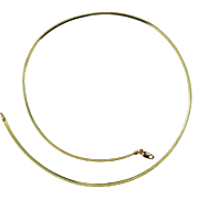 """10k Solid Gold 17"""" Long Omega Chain"""