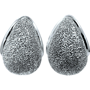 Milor Sterling Silver Sparkling Pierced Earrings