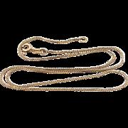 "14k Gold 16"" Long Woven Links Chain"