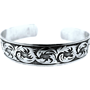 Danecraft Sterling Art Deco Style Cuff Bracelet