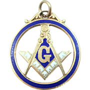 10k Gold & Enamel Masonic Charm or Fob