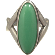 1980s Relios Jewelry Co. Sterling Silver & Turquoise Lady's Ring Pollack