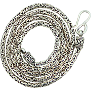 """HEAVY 24"""" Long Solid Sterling Silver Balinese Bali Chain Necklace"""