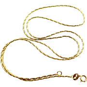14k Diamond Cut Rope Style Necklace Chain
