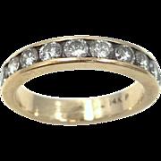 14k Plumb Gold 1 Carat Diamond Stacking Ring Wedding Band Size 7