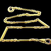 Art Deco Yellow Gold Fld. Watch Chain