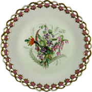 ROYAL WORCESTER c1869 Australian wild flowers antique plate #6