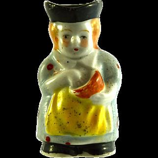 """JAPAN MIOJ Cook Toby Jug 2"""" miniature figurine"""