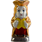 "JAPAN gold luster Toby Jug 2.5"" miniature figurine"