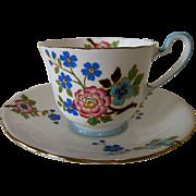 AYNSLEY 1930's Bone China England cup & saucer #B1835 floral. RARE.