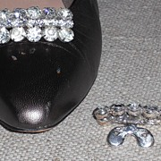 Rectangular  MUSI Shoe Clip with Crystal Austrian Crystal Rhinestones