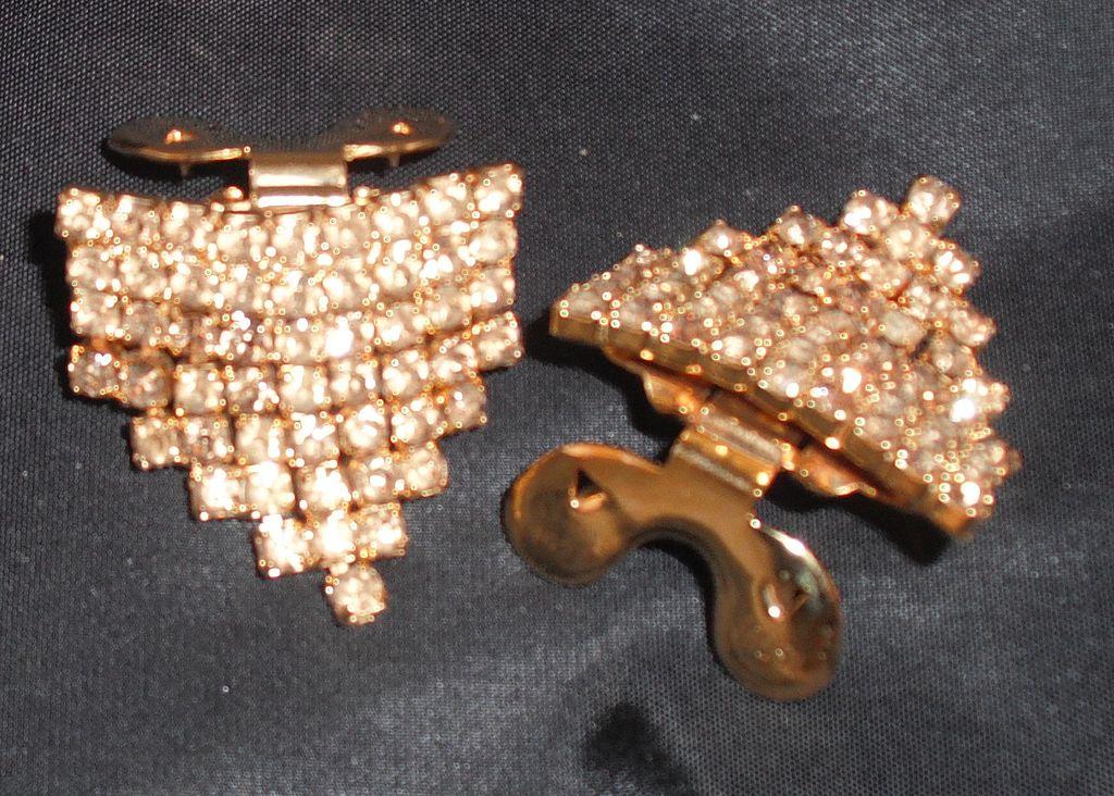 Vintage MUSI Shoe Clip Topaz Austrian Crystal