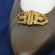 MUSI Shoe Clip – Cast Metal Faux Marcasite Oval with Points