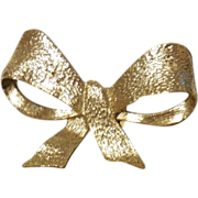 Vintage Gold Plated MUSI Bow Shaped  Shoe Clip