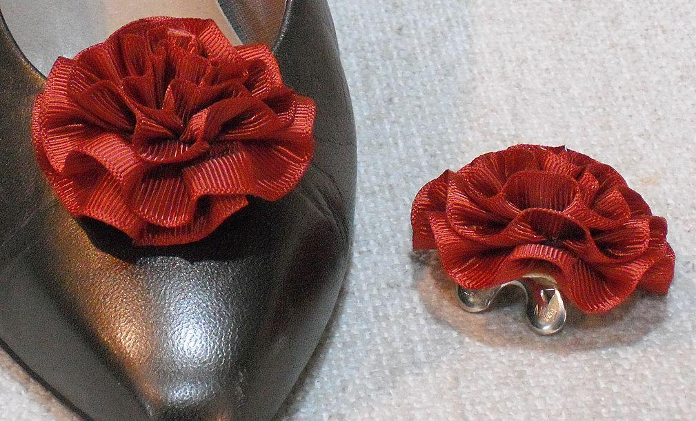 MUSI Shoe Clip -  Medium Rust Faille Rosette