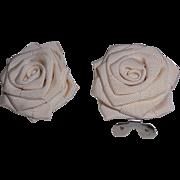 MUSI Shoe Clip – Cream Faille Flower