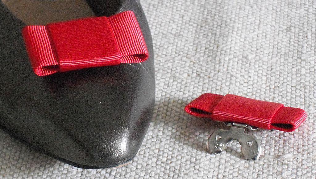 Vintage MUSI Red Faille Shoe Clip