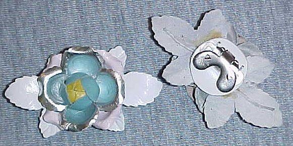 MUSI Shoe Clip - Light Pastel  Multi Leather Flower