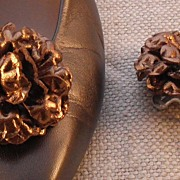 MUSI Shoe Clip - Bronze Leather Flower