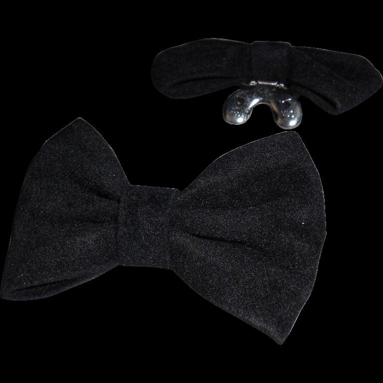 MUSI Shoe Clip – Black Faux Suede