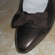 MUSI Shoe Clip Brown Faille