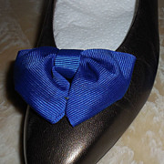 MUSI Shoe Clip – Royal Blue Faille