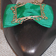 MUSI Shoe Clip - Kelly Green Faille