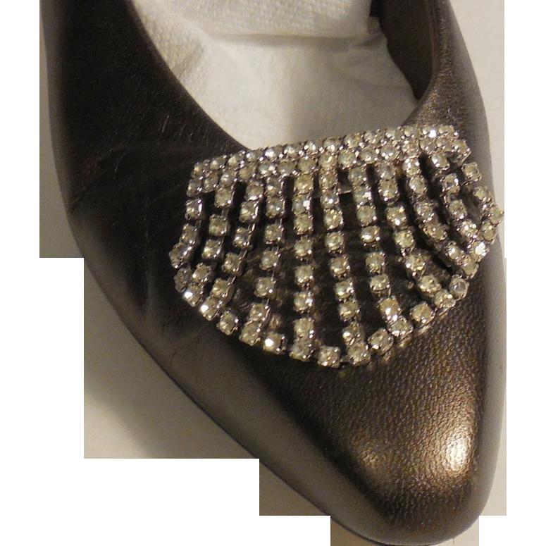 MUSI Austrian Crystal Rhinestones Draped Shoe Clip