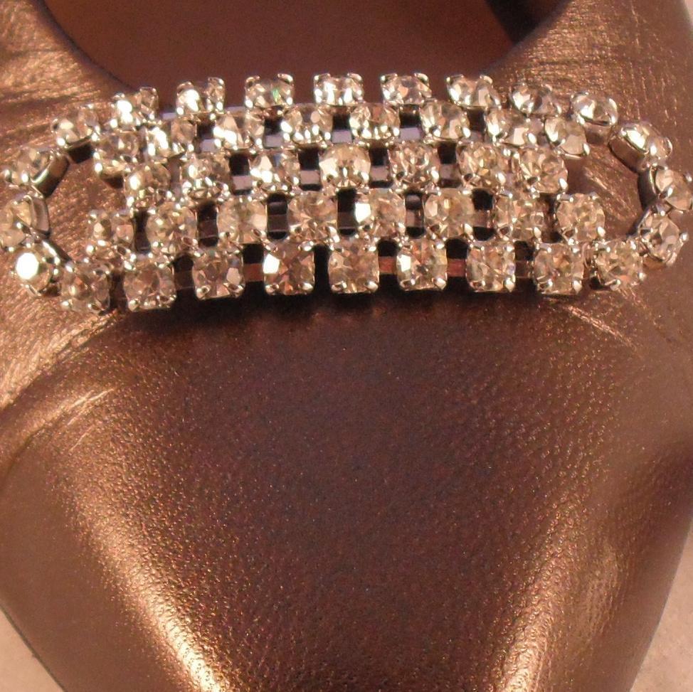 MUSI Austrian Crystal Rhinestone Oval Shoe Clip