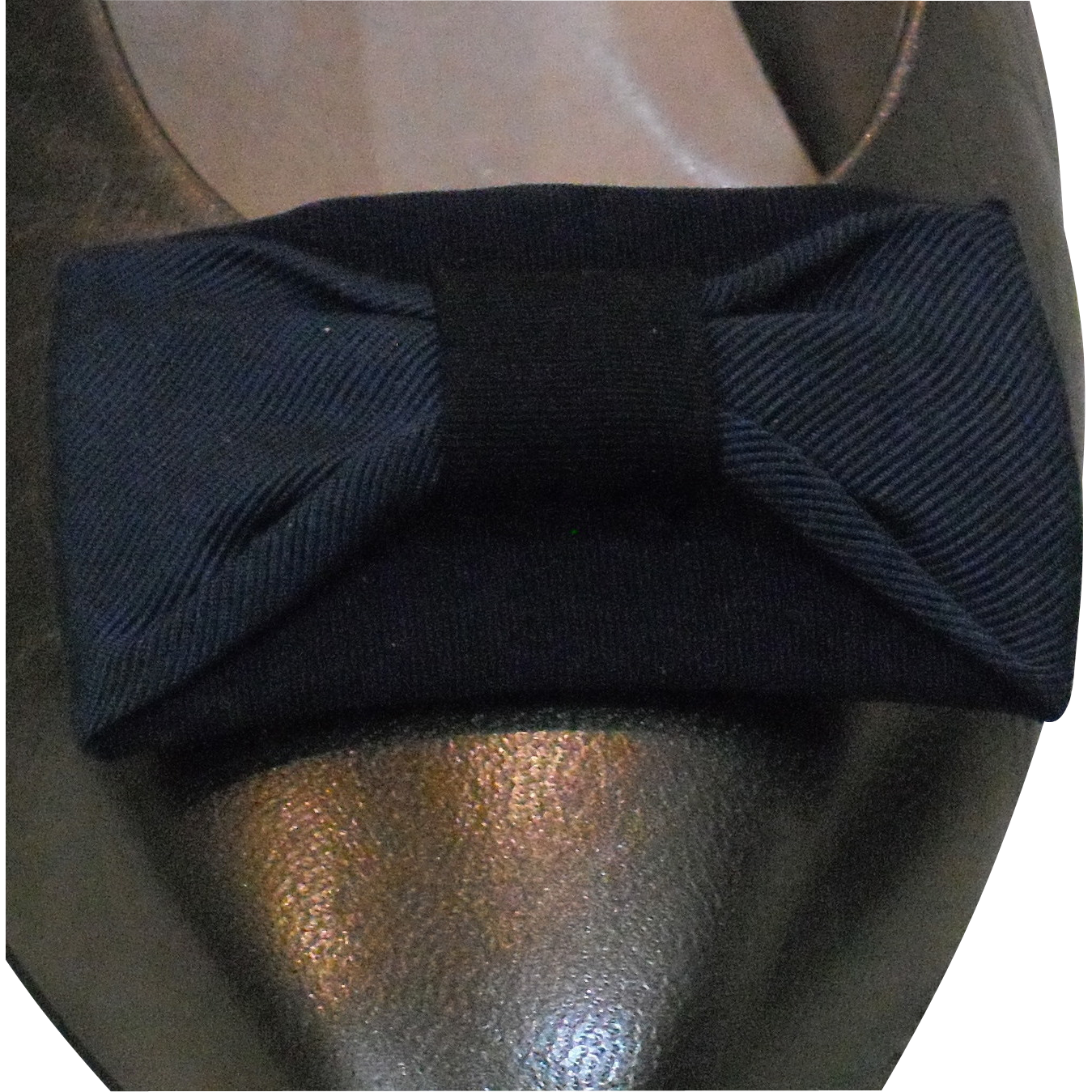 MUSI Navy Faille Shoe Clip