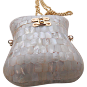 Vintage Mother of Pearl Box Bag