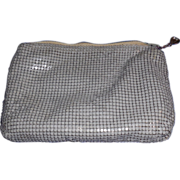 Vintage Whiting and Davis Grey Metal Mesh Cosmetic Bag