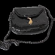 Vintage Black Metal Mesh Small Shoulder Bag Purse Clutch