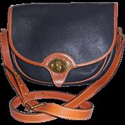 Vintage Dooney and Bourke Black Leather Shoulder Bag Cross Body Bag